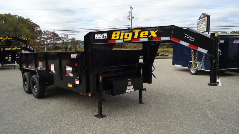 2020 Big Tex Trailers DT 7X16 14GX 16BK7 SIRPD BLACK Dump Trailer