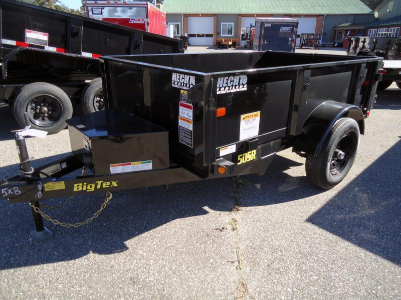 2020 Big Tex Trailers DT 5X8 50SR 08 5WDD BLACK Dump Trailer