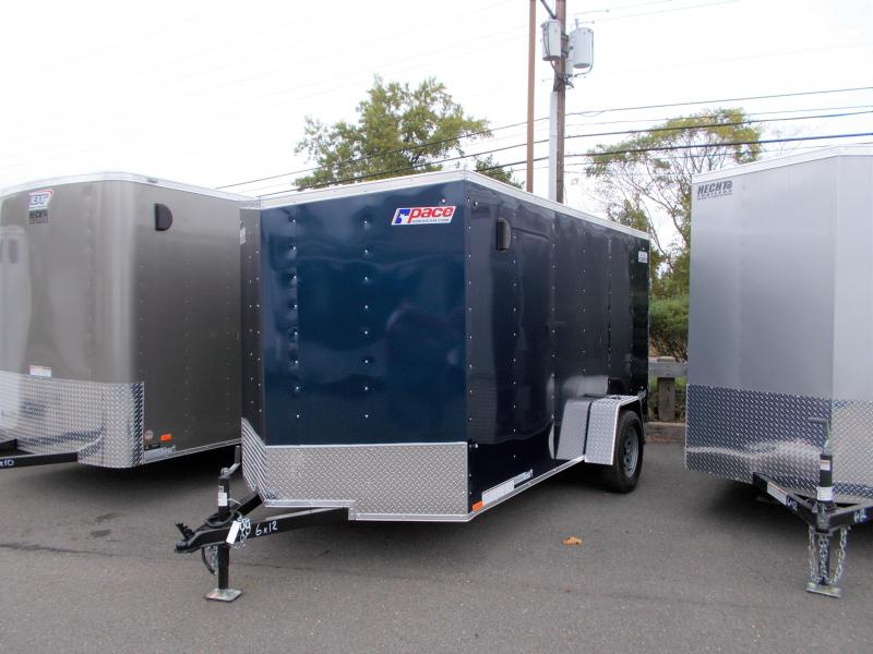 2020 Pace American 6X12 OBDLX SI2 24VS RAMP SVNT BLUE Enclosed Cargo Trailer