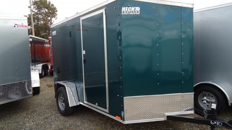 2020 Pace American 6X10 OBDLX SI2 24VS RAMP SVNT GREEN Enclosed Cargo Trailer