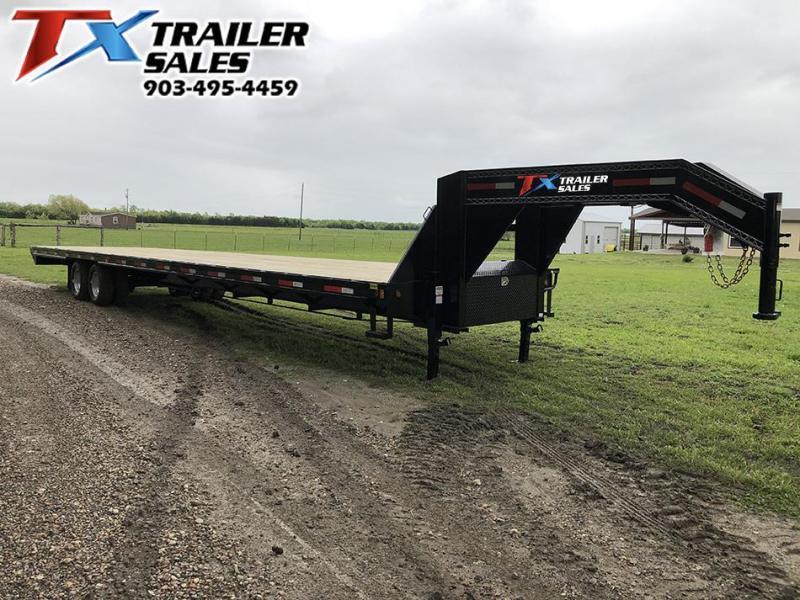 2020 East Texas 102 X 40 GOOSENECK HD DECK OVER 20K W/UNDER FRAME BRID Flatbed Trailer