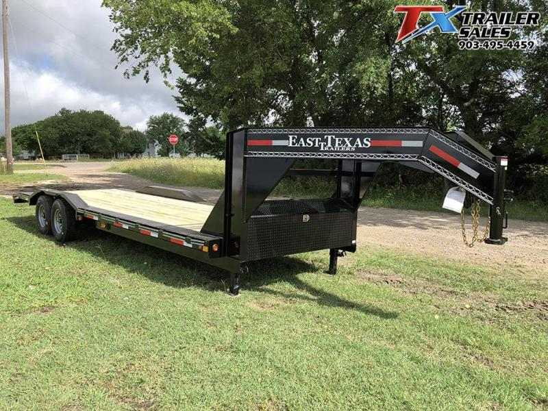 "2020 East Texas 102"" X 26' GOOSENECK LOW BOY CARHAULER/EQUIPMENT 16K Equipment Trailer"
