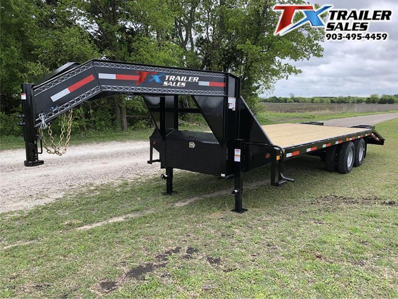 2020 East Texas 102 X 25 GOOSENECK HD DECK OVER 20K Flatbed Trailer