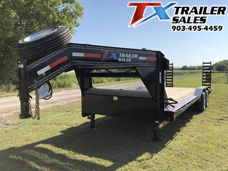 "2020 East Texas 102"" X 24' GOOSENECK LOW BOY EQUIPMENT 16K Car / Racing Trailer"