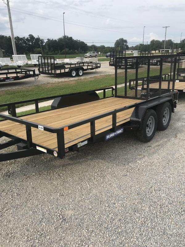 2020 Sure-Trac 7 X 14 Tube Top Utility  7k Tandem
