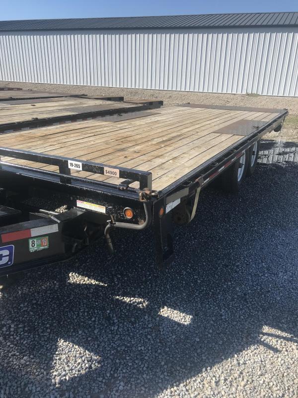 2014 Sure-Trac 85x22 Hydraulic Deckover Flatbed Flatbed Trailer