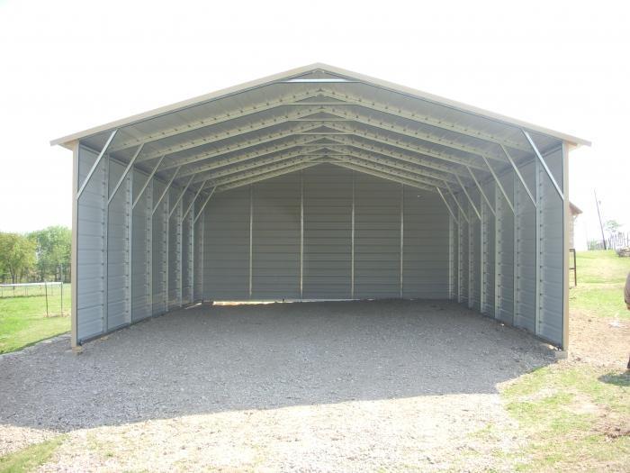 24x35x10 Vertical Roof Carport #CP067