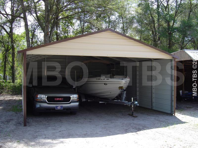 22X25X9 VERTICAL Boxed Eave Roof Carport #CP018