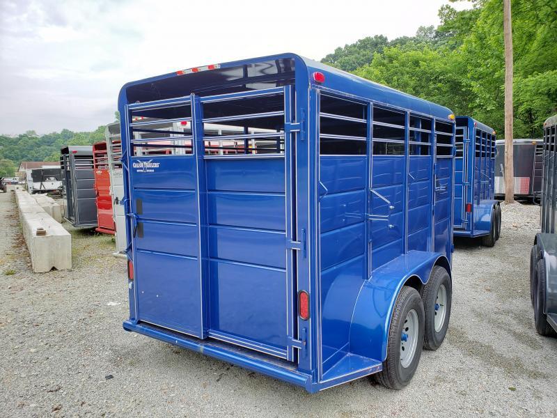 2019 Calico Trailers 14 X 6 X 6'6'' Dual Escape Doors Livestock Trailer
