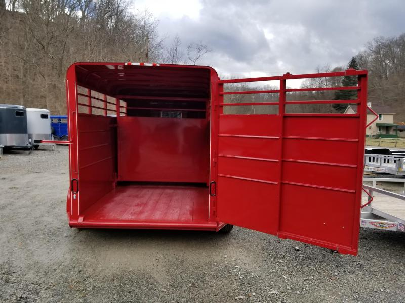 2019 Calico Trailers 14 X 6 X 6'6'' Dual Escape Doors Livestock Trailer