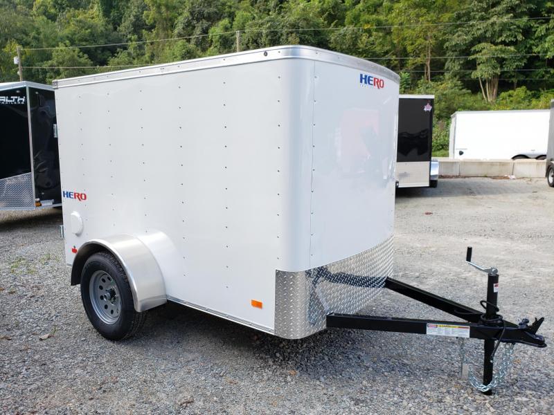 2020 Bravo Trailers Hero 5x8 Barn Door Enclosed Cargo Trailer
