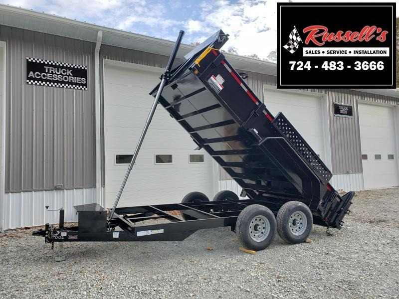 2020 Forest River 7x14 14000 GVW Dump Trailer Telescopic Hoist