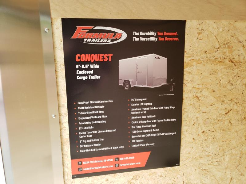 2020 Formula Trailers Conquest 5x8 Enclosed Cargo Trailer