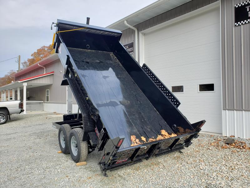 2020 Forest River 7x14 14000 GVW Dump Trailer Telescopic Hoist