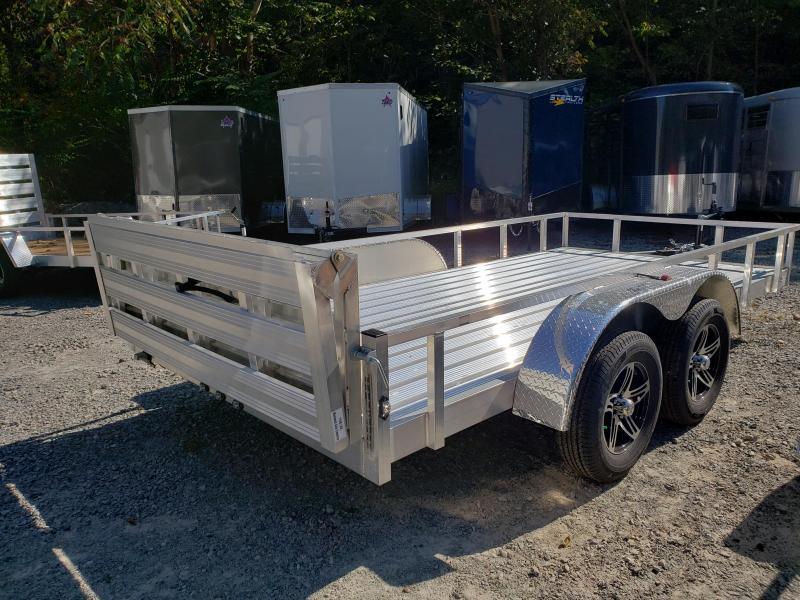 2020 Stealth Trailers 6.5x14 Phantom II Aluminum Utility Trailer Tandem Utility Trailer