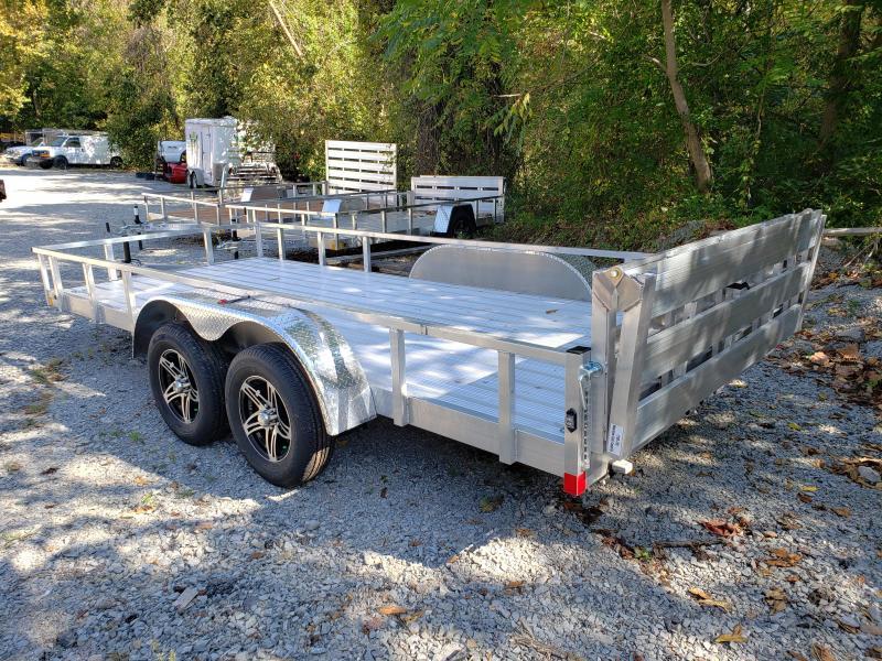 2020 Stealth Trailers 6.5x16 Phantom II Tandem Axle Aluminum Utility Trailer