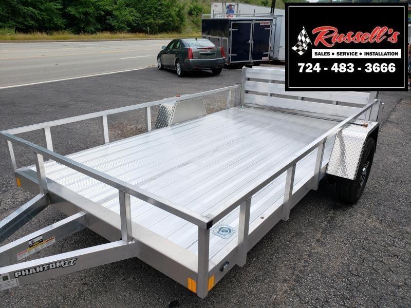 2020 Stealth Trailers 6.5x12 Phantom II Aluminum Utility Trailer