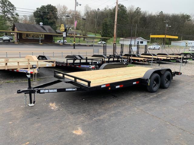 2020 Outlaw Trailers 20' Wood Floor Car Hauler- 7000 GVWR Car / Racing Trailer