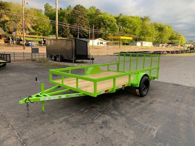 2020 Outlaw Trailers 6.5' x 12' FULL TUBE Utility Trailer