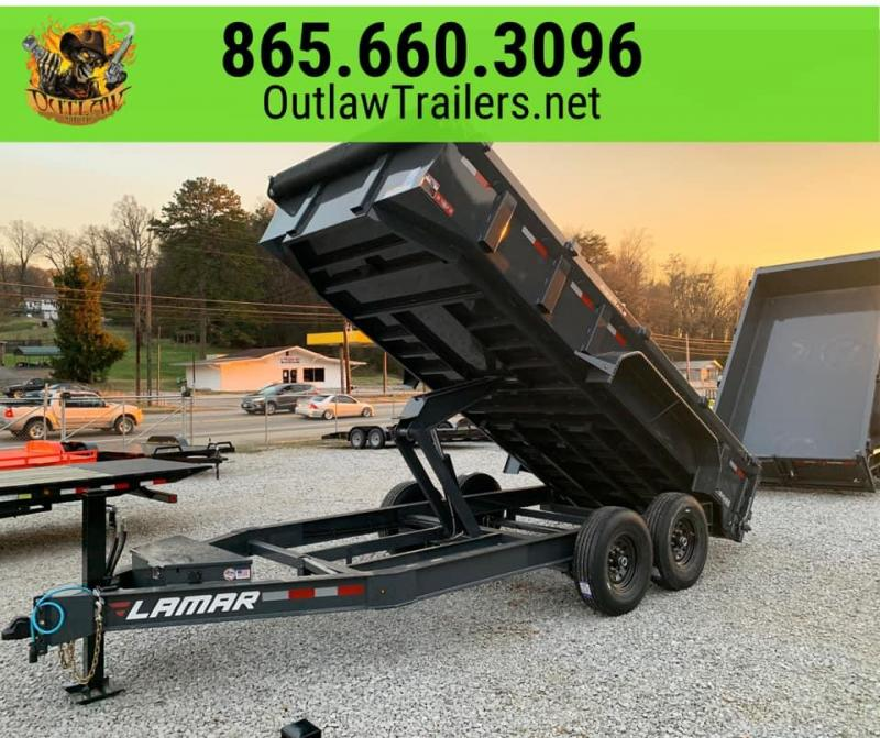 New 2020 Lamar 7 X 16 14K Dump Trailer