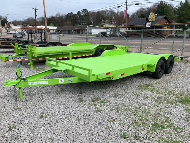 "2020 Outlaw Trailers 82"" x 20' Steel Floor Car Hauler- 7000 GVWR Car / Racing Trailer"