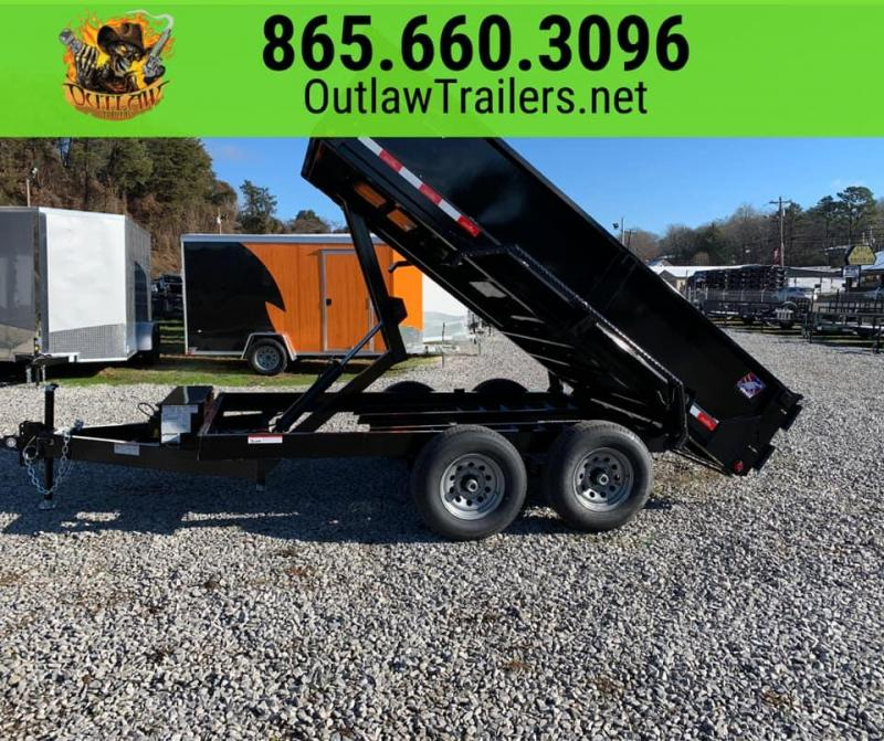 New 2020 Hawke Outlaw 6 X 12 Tandem Axle 10K Dump Trailer