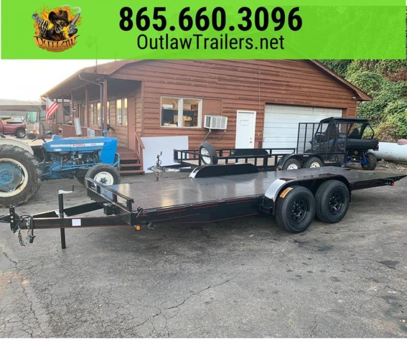 New 2020 Outlaw 20' 10K Hydraulic Cushion Tilt Trailer