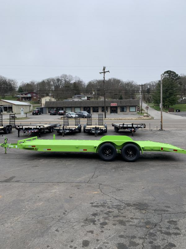 2020 Outlaw Trailers LIME GREEN Car / Racing Trailer