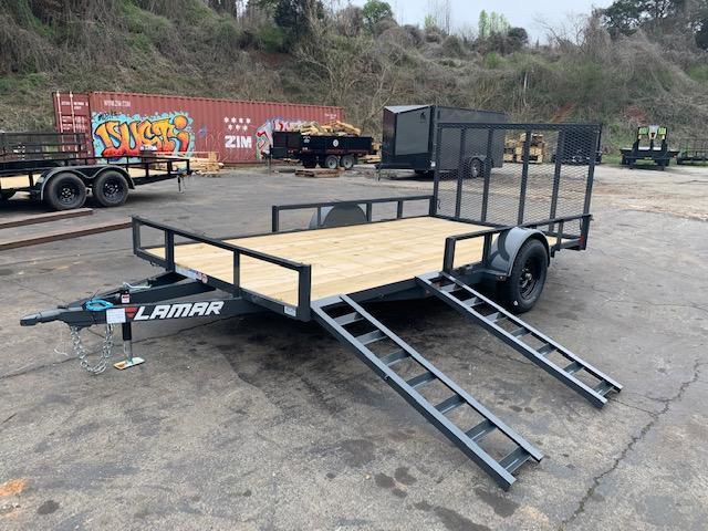 2020 Lamar Trailers 7' x 14' Single Axle w/ side load capability Utility Trailer
