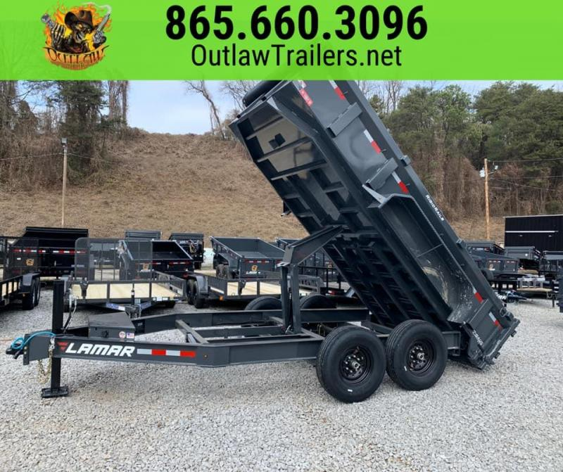 New 2020 Lamar 7 X 14 14K Dump Trailer