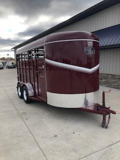 2019 S and S Dura-Line 6'x16' Maroon Livestock Trailer With 3.5k Axles