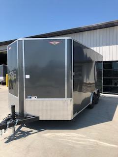 "2020 H and H Trailers 101""x16' Charcoal Enclosed V-Nose 5.2k Tandem Axle Cargo"