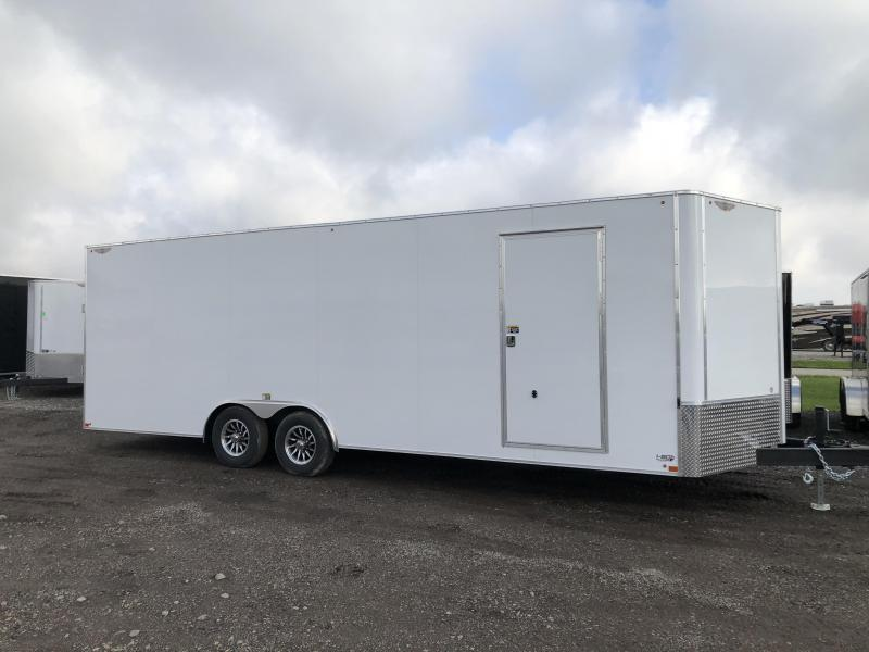"2020 H and H Trailers 101""x24' Charcoal Cargo 5.2k Axles Enclosed Flat Top V-Nose Car Hauler Trailer"