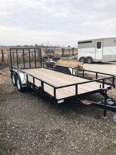 """2020 H and H Trailers 82""""x16' Steel Rail Side Tandem Axle 3.5K Utility Trailer"""