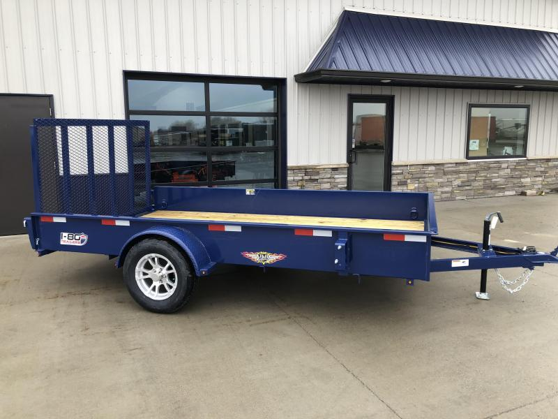"2020 H and H Trailers 82""x12' Blue Solid Side 3.5k Axle Utility Trailer"