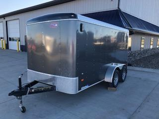 USED 2017 American Hauler 7'x14' Charcoal Tandem axle Enclosed Cargo Trailer
