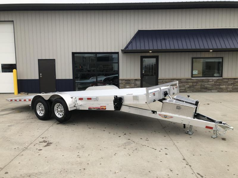 "2020 H and H Trailer 82""x20' Aluminum ElectricTilt 5.2k Axles Tilt-Bed  Equipment/Car Speedloader Trailer"