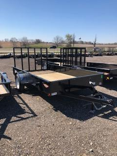 """2020 H and H Trailers 76""""x12' Steel Solid Side Single Axle Utility Trailer"""