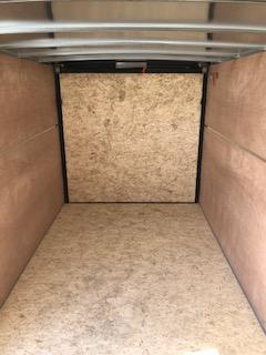 2020 H and H Trailers 7'x14' Charcoal Cargo 3.5k Axles Enclosed Flat Top V-Nose Trailer