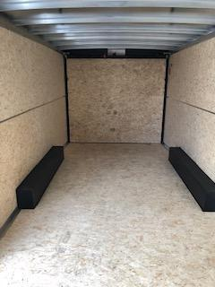 2020 H and H Trailers 8'x16' Black Cargo 5.2k Axles Enclosed Flat Top V-Nose Trailer