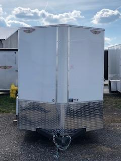 2020 H and H Trailers 7'x12' Cargo White Flat Top V-Nose Single Axle