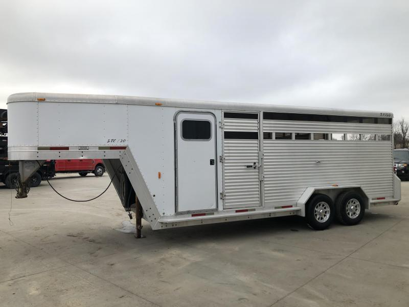 2003 Exiss Trailers 7'x20' GN Stock Livestock Trailer