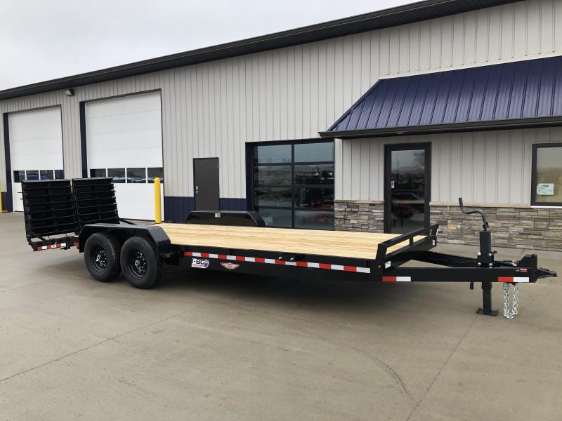 "2020 H and H Trailer 82""x18'+4' Super Deluxe Equipment Trailer"