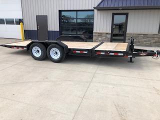 """USED 2018 H and H Trailer 82""""x16'+4' GTL 7K Axles Gravity Tilt-Bed Equipment Trailer"""