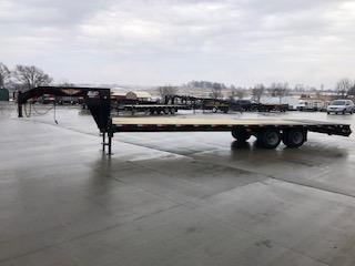 """2020 H and H 102""""x 20'+5' Black 10k Axles Gooseneck Low Pro Deckover Equipment Trailer with Super Deluxe Ramps"""