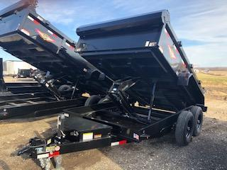 "2020 H and H Trailers 83""x12' Black 7k Axles Dump Box Trailer"