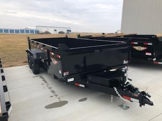 2019 H and H Trailers 83x16 DBW Dump Box 7k Tandem Axle Trailer