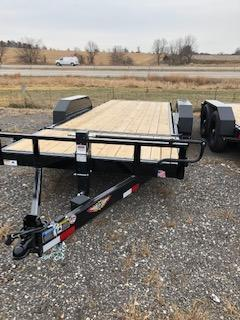 2020 H and H Trailers GTL 8.5'x16'+4' Stationary Deck 7k Axles Gravity Tilt-Bed Equipment Trailer