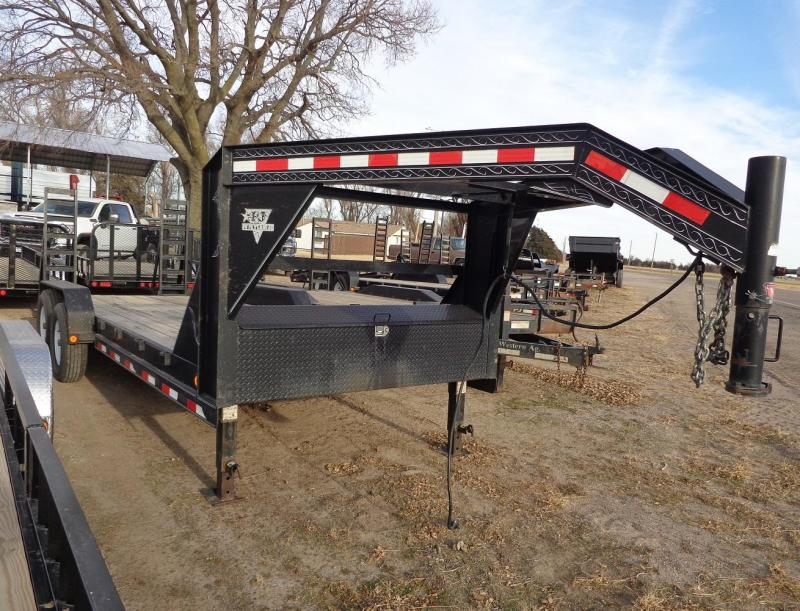 "2008 PJ Trailers Gooseneck 83"" x 20' Equipment Trailer"