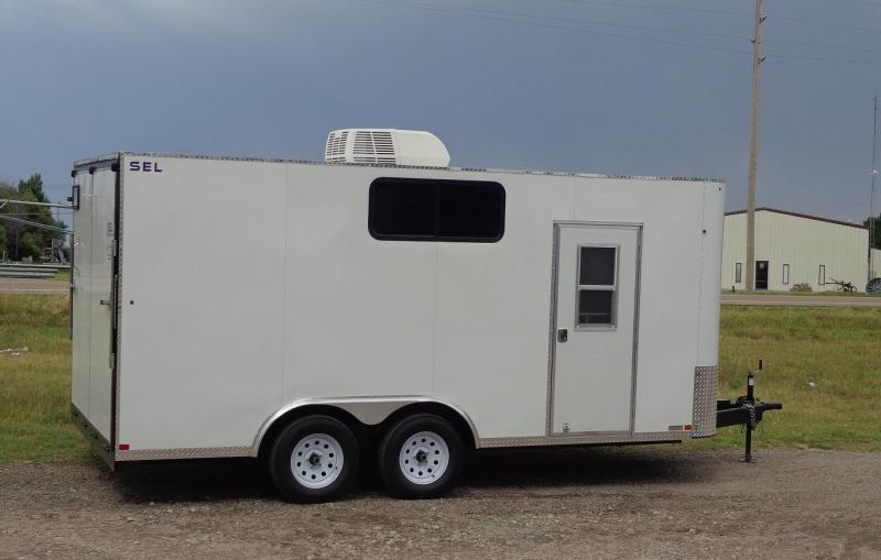 "2019 Sharp 101"" x 16' SEL Enclosed Cargo Trailer"